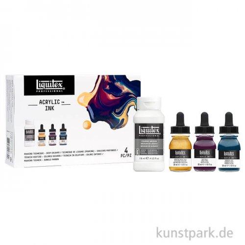 Liquitex Professional ACRYLIC INK Technik Set mit 3 dunklen Farben 30 ml