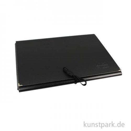 LOGO Künstlermappe aus schwarzer Hartpappe DIN A3 (32x45 cm)