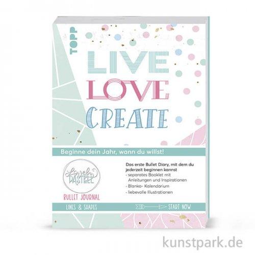 Lovely Pastell - Lines & Shapes, Bullet Journal, Topp Verlag