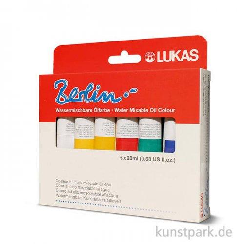 Lukas BERLIN Starter Set mit 6x20 ml Wasser-Ölfarbe