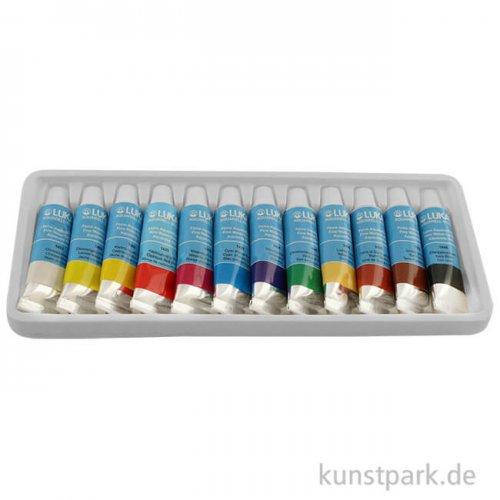 Lukas STUDIO Aquarellfarbe Sortiment-Karton mit 12 Tuben 12 ml
