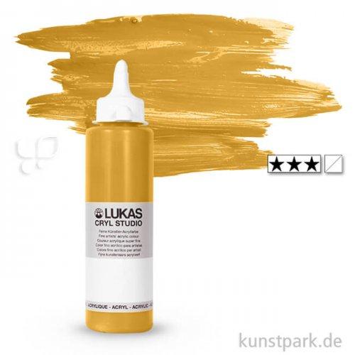 LukasCryl STUDIO Acrylfarbe 250 ml Flasche   4612 Gold
