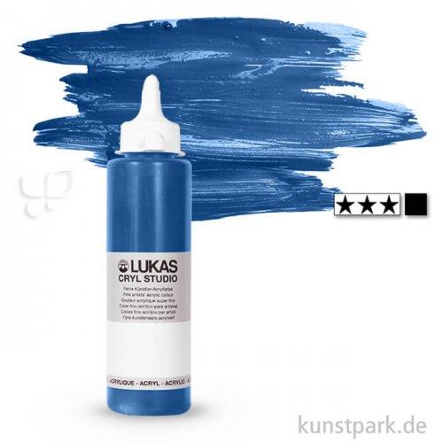LukasCryl STUDIO Acrylfarbe 250 ml Flasche   4721 Coelinblau