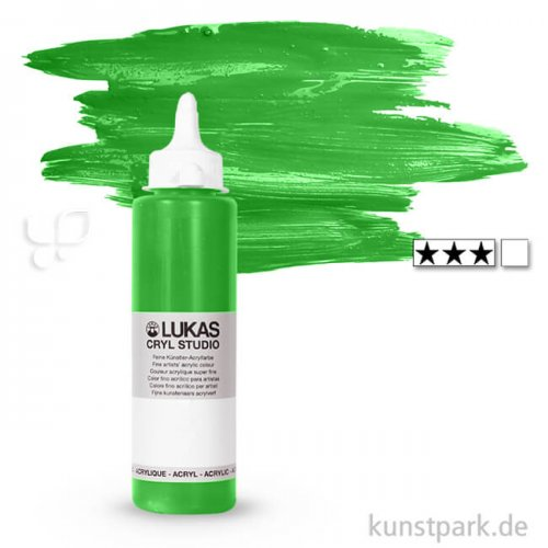 LukasCryl STUDIO Acrylfarbe 250 ml Flasche | 4751 Chromgrün hell