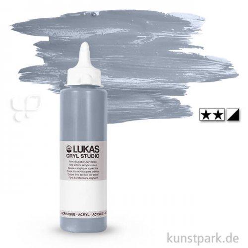 LukasCryl STUDIO Acrylfarbe 250 ml Flasche | 4785 Hellgrau
