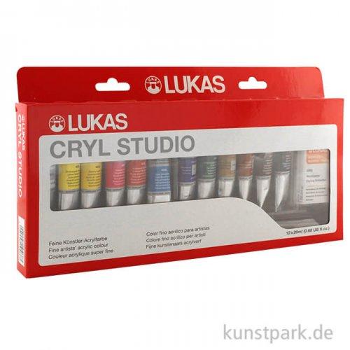 LukasCryl STUDIO Schiebeschachtel mit 12 Tuben 20 ml