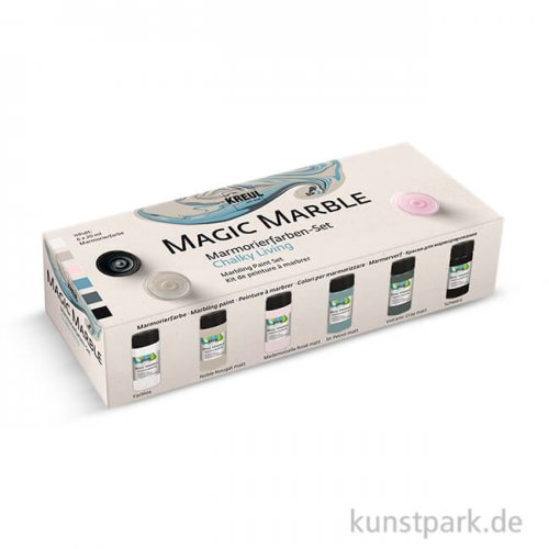 Magic Marble Marmorierfarben Set Chalky Living 6x20 ml