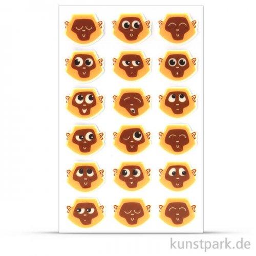 Maildor Cooky Sticker - Emoticons Affen