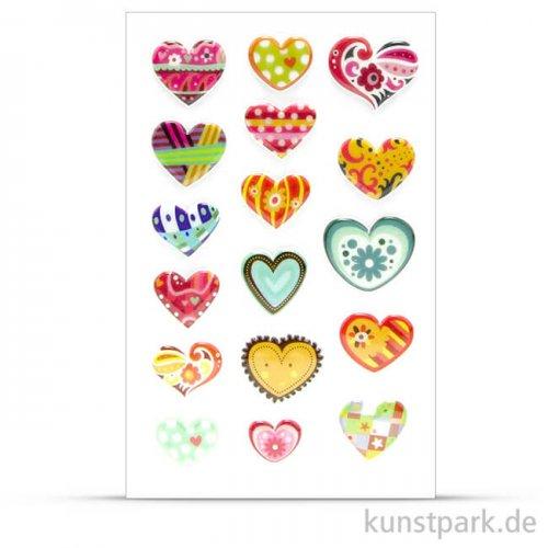 Maildor Cooky Sticker - Herzen abstrakt