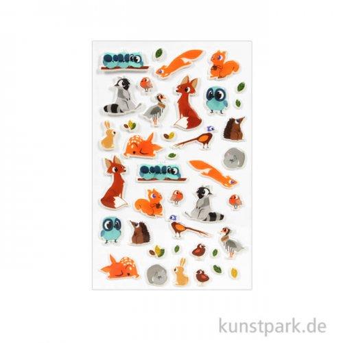 Maildor Cooky Sticker - Tiere Wald