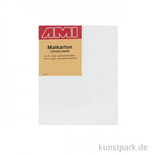 Eckiger Malkarton mit Maltuch bespannt 13 x 18 cm