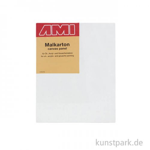 Eckiger Malkarton mit Maltuch bespannt 18 x 24 cm