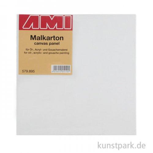 Eckiger Malkarton mit Maltuch bespannt 30 x 30 cm