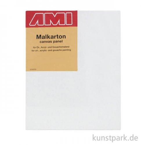 Eckiger Malkarton mit Maltuch bespannt 40 x 50 cm