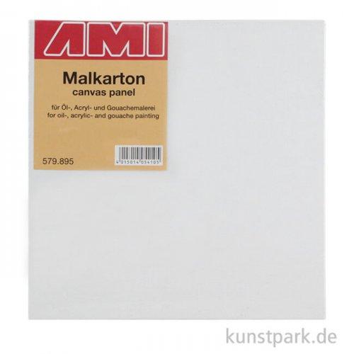 Eckiger Malkarton mit Maltuch bespannt 50 x 50 cm