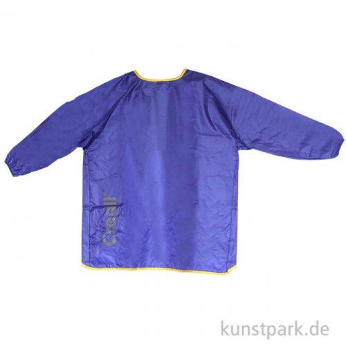 Blauer Malkittel aus leichtem Nylon für Kinder von etwa 9 bis 12 Jahren