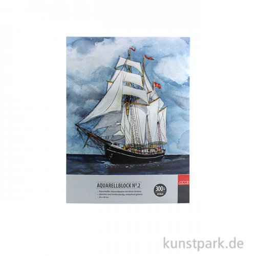 Malzeit Aquarellblock No.2, 20 Blatt, 300g 17 x 24 cm