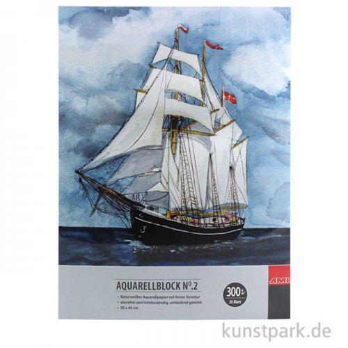 Malzeit Aquarellblock No.2, 20 Blatt, 300g 36 x 48 cm