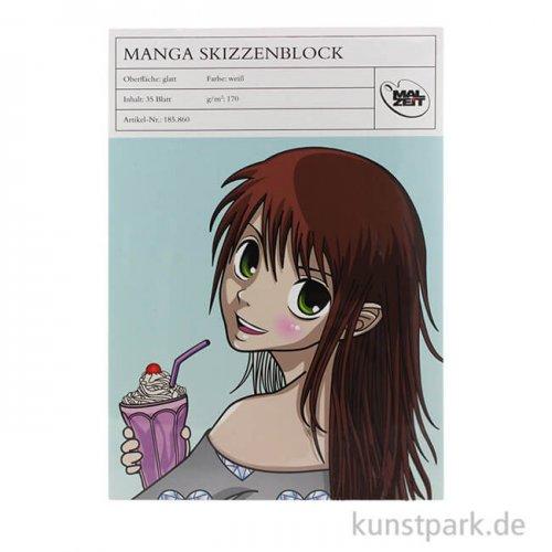 Manga Skizzenblock, 35 Blatt, 170 g DIN A3