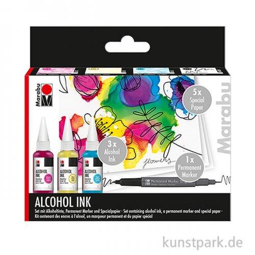 Marabu Alcohol Ink-Set FLOWERS