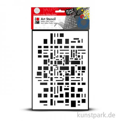 Marabu Mixed Media ART STENCIL DIN A4 - Graphic Pattern