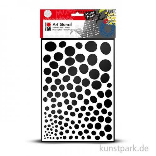 Marabu Mixed Media ART STENCIL DIN A4 - Growing Dots