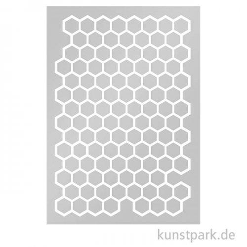 Marabu Mixed Media ART STENCIL DIN A4 - Honeycomb