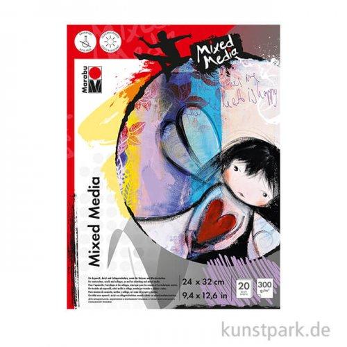 Marabu Mixed Media Malblock, 20 Blatt, 300 g 24x32 cm