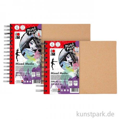 Marabu Mixed Media Ringbuch, 32 Blatt, 300 g