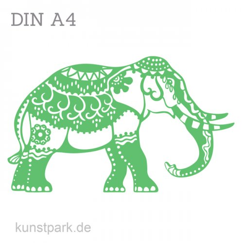 Marabu Schablone Silhouette DIN A4 - Indian Elephant