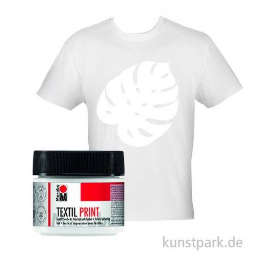Marabu Textil Print Siebdruckfarbe, 100 ml Einzelfarbe | Weiß