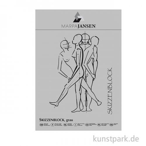 Marpa Jansen Skizzenpapier-Block - Grau, 110g