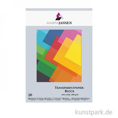 Marpa Jansen Transparentpapier farbig sortiert, 20 Blatt DIN A3
