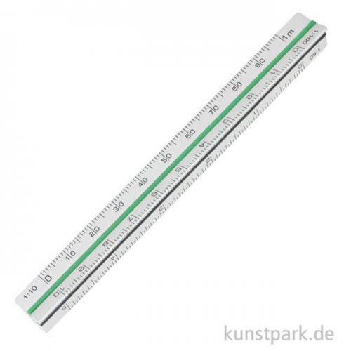 Dreikant-Maßstab Aluminium Länge 10 cm