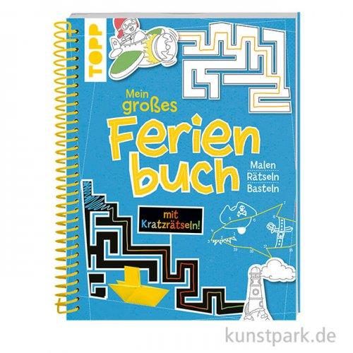 Mein großes Ferienbuch - Blau, Topp Verlag