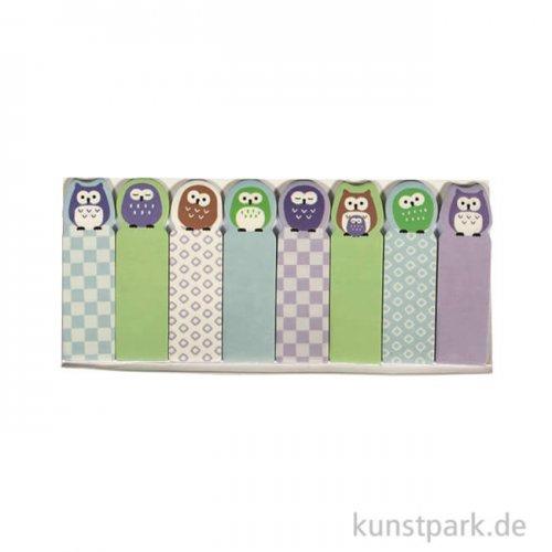Memo-Stickers - Eulenfamilie, 8 Motive