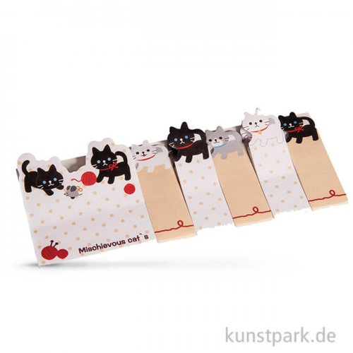 Memo-Stickers - Katzen, 6 Motive sortiert