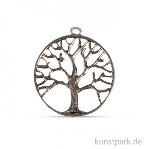 Metall-Dekoanhänger Lebensbaum, 3,3 cm, 3 Stück