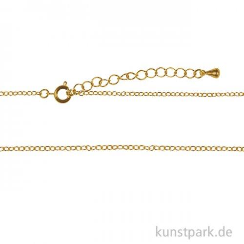 Metall-Gliederkette mit Verschluss, 83 cm Gold