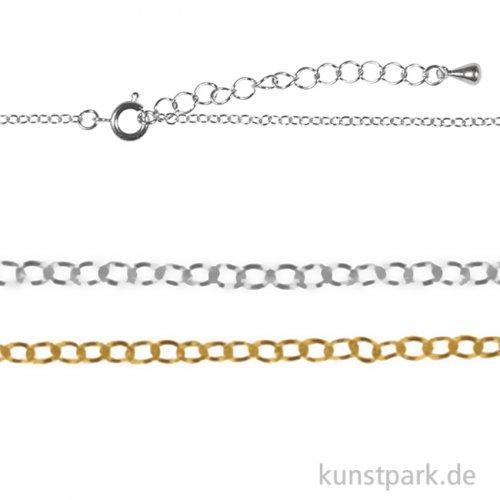 Metall-Gliederkette mit Verschluss, 83 cm