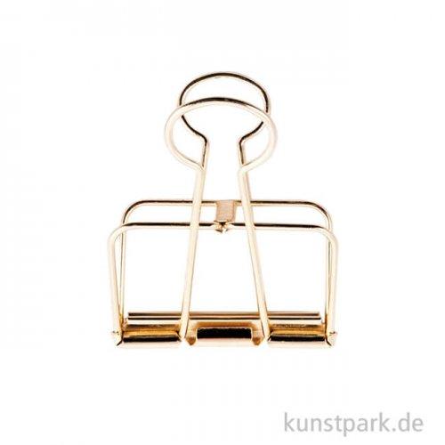 Metall Klammer - Gold 32 mm (3 Stück)