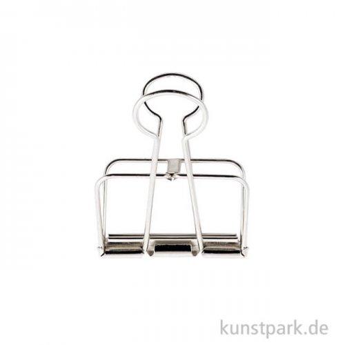 Metall Klammer - Silber 19 mm (6 Stück)