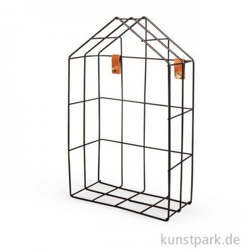 Metall Regal - Haus, Schwarz, mit Befestigung
