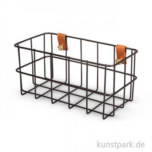 Metall Regal - Korb, Schwarz, mit Befestigung