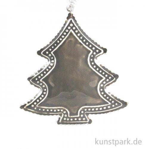 Metallanhänger grauer Baum mit Deco-Rand