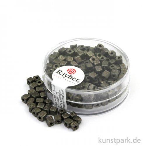 Metallic-Würfel matt - 3,4 mm 15 g Dose | Anthrazit