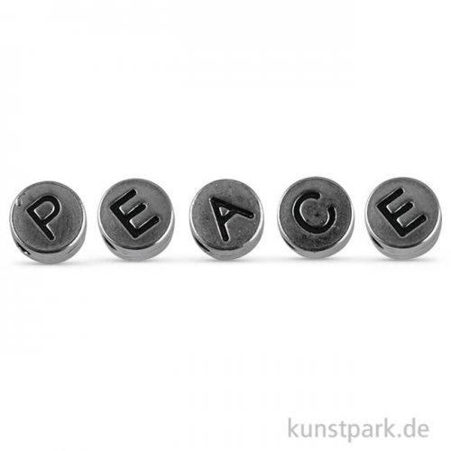 Metallperlen-Mix Silber Peace, 7 mm
