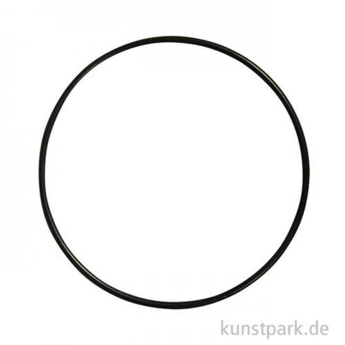 Metallring beschichtet - Schwarz 25 cm