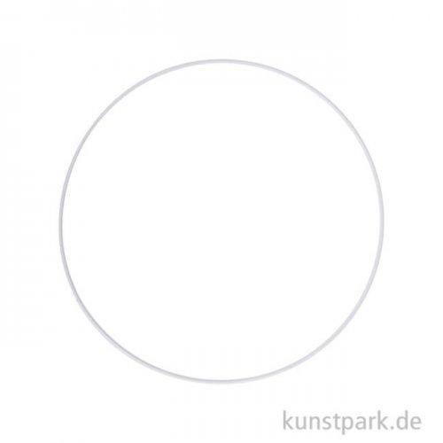 Metallring beschichtet - Weiß 20 cm