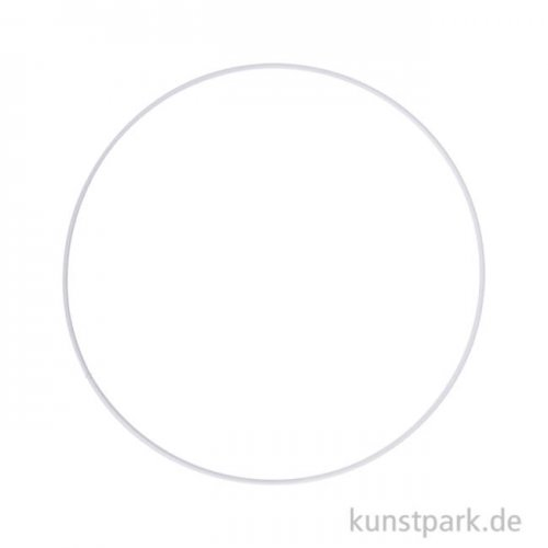 Metallring beschichtet - Weiß 25 cm